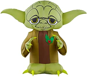 Gemmy 3.5Ft. Tall Star Wars Yoda Christmas Airblown Inflatable Indoor/Outdoor Decoration