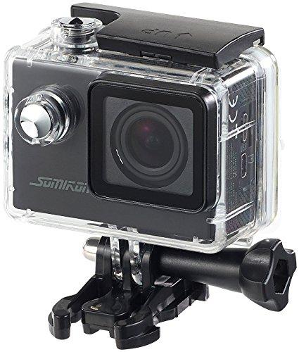 Somikon Einsteiger-4K-Action-Cam, Full HD bei 60 fps, mit Unterwassergehäuse