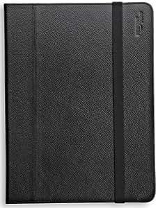 AmazonBasics - Funda de cuero con soporte ajustable de AmazonBasics para iPad 2 y Samsung Galaxy Tab 10.1, color negro