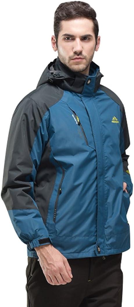 Modern Fantasy Mens Detachable Fleece Liner Outdoor 3 in 1 Interchange Hiking Jacket