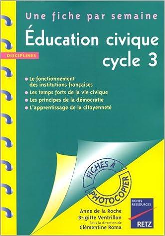 En ligne téléchargement gratuit EDUCATION CIVIQUE. : Fiches à photocopier epub pdf