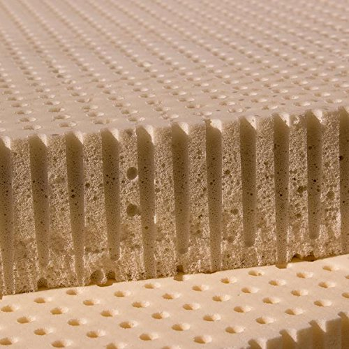 100% Natural Latex Mattress Topper - Firm - 3'' Full