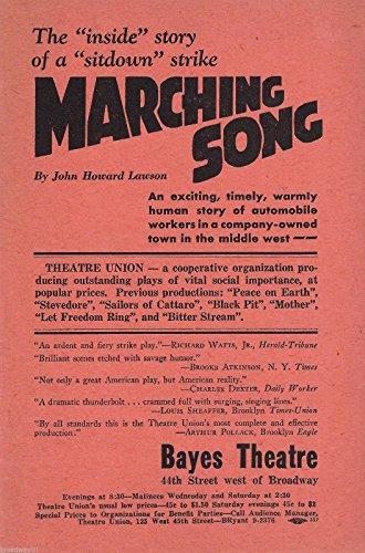 "Frances Bavier ""MARCHING SONG"" Frieda Altman / Gertrude Flynn 1937 Flyer"