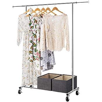 Amazon Com Langria Heavy Duty Garment Rack Commercial