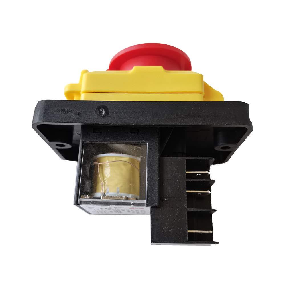 A 5E4 IP54 Interruptor electromagn/ético de 5 pines KEDU KJD18 Interruptores pulsadores de parada de emergencia a prueba de agua para equipos de m/áquinas herramienta industriales AC 250V 15 12
