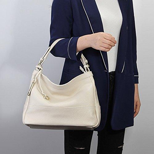 LF E Sac Blanc fashion en Sac épaule 6024 Girl à main portés femme Sac cuir Sac portés main bandoulière Hr4qH5w