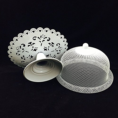 Cake Stand and Dome Lid ,Cake Plate Rack Display Holder Metal for Tea Shop Room Hotel , Wedding Cake Dome,Serving Stand, Food Dome,Cake Display Presentation by Firego (Image #2)
