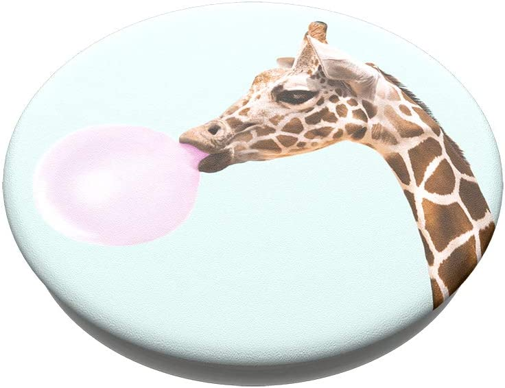 PopSockets PopGrip with Swappable Top for Phones and Tablets Bubblegum Giraffe
