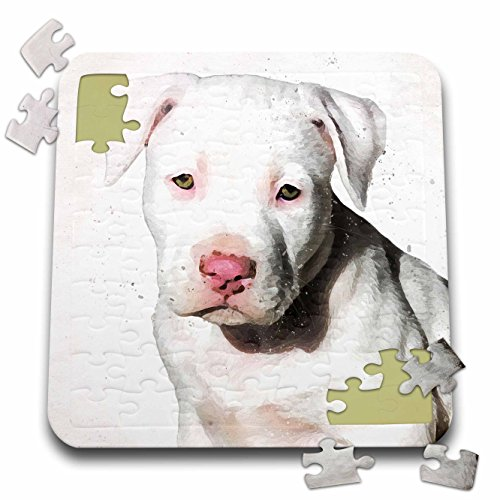 Doreen Erhardt Dogs - American Staffordshire Terrier Pit Bull Puppy Watercolor - 10x10 Inch Puzzle (pzl_245337_2)
