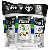 Power Up Trail Mix 100% Natural, Mega Omega Trail Mix, High Energy Trai Mix, Antioxidant Trai Mix, Variety Pack Total 36 oz,24 Ct