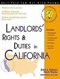 Landlord's Rights and Duties in California, John J. Talamo and Mark Warda, 1570713596