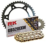 RK Racing Chain 4044-040SG Steel Rear Sprocket and GB520EXW Chain OE Replacement Kit