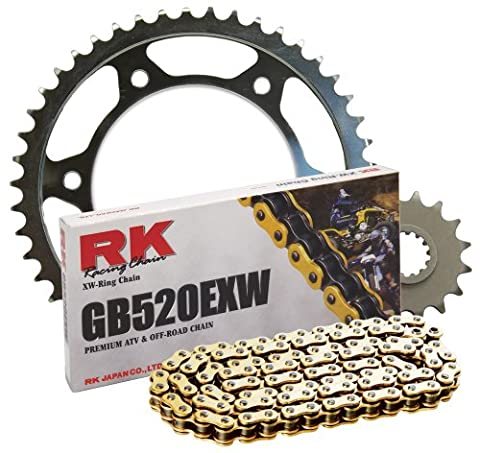 RK Racing Chain 4142-068SG Steel Rear Sprocket and GB520EXW Chain Steel Race Kit - Steel Sprocket Kit