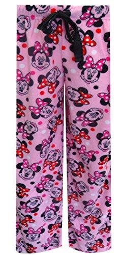 Disney Women's Ladies Fleece Pant Minnie, Pink, Medium