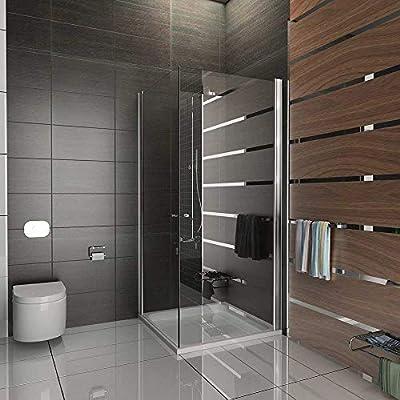 Mampara de ducha de esquina Kage 80 x195 con accesorios de cristal/rectangular woodxpert-horizontal con mecanismo de entrada por la esquina puerta plegable: Amazon.es: Bricolaje y herramientas