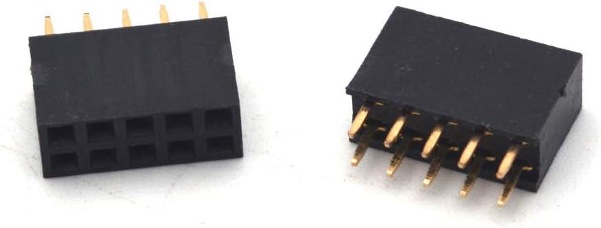 50 x IDC conector FC-10P 10Pin enchufe encabezamiento 2.54mm tono