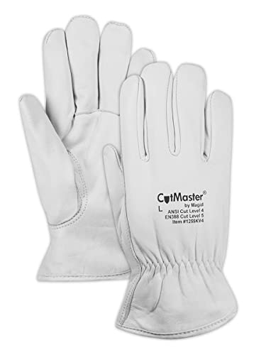 Yellow Made with DuPont Kevlar 1000 Ladies Small Ladies Magid Glove /& Safety 590CSKEVTC Magid Cut Master Extra Heavyweight Gloves Fits XS Fits X- Pack of 12