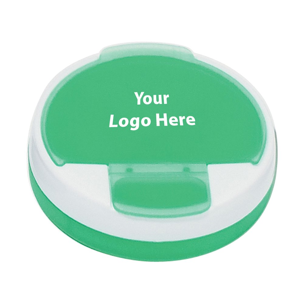 Round Pill Holder - 250 Quantity - $0.75 Each - PROMOTIONAL PRODUCT / BULK / BRANDED with YOUR LOGO / CUSTOMIZED