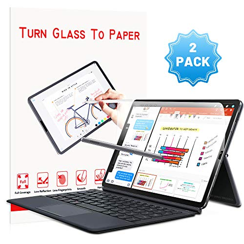 MOBDIK Screen Protector for Samsung Galaxy Tab S6 Paper Like, 2 Pack Paperlike Galaxy Tab S6 Anti Glare Matte Screen Protector with Easy Installation Kit Paper Texture Galaxy Tab S6 Screen Protector