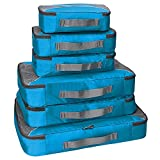 G4Free Packing Cubes 6pcs Set Travel Accessories Organizers Versatile Travel Packing Bags(Blue)