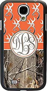 Orange Buck Head #2 Country Girl Camo Monogram Case Cover For Samsung Galaxy S4