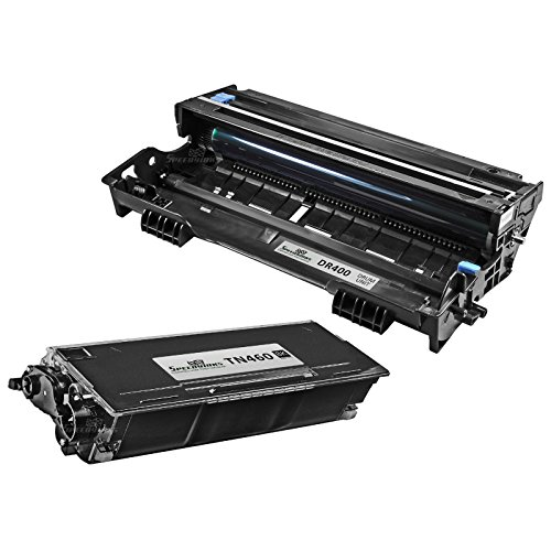 Speedy Inks - Compatible Brother TN460 TN-460 HY Toner DR400 DR-400 Drum Combo Set 1 Toner 1 Drum for use in HL-1030, 1230, 1240, 1250, 1270n, 1435, 1440, 1450, 1470n, P2500, MFC-2500, Intellifax 4100 (Drum Dr400 Compatible)