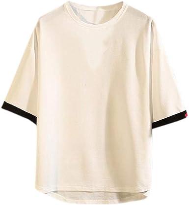 AIMEE7 Ropa Hombre Camiseta Suelta Japonesa Casual Tallas Grandes Manga Corta Casual Deportiva de Primavera, Verano y otoño, Camiseta y Camisa para Hombre de Moda 2019: Amazon.es: Ropa y accesorios