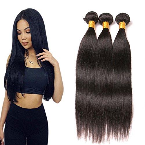 Brazilian 3 Bundles Straight Long Hair Extensions Human Hair