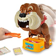 Itian Don't Take Buster's Bones Beware of the Dog Party Game Don't Take Buster's Bone Vicious Dog Shaped Tricky Intelligence Toys Dolls Game Electric Board Game