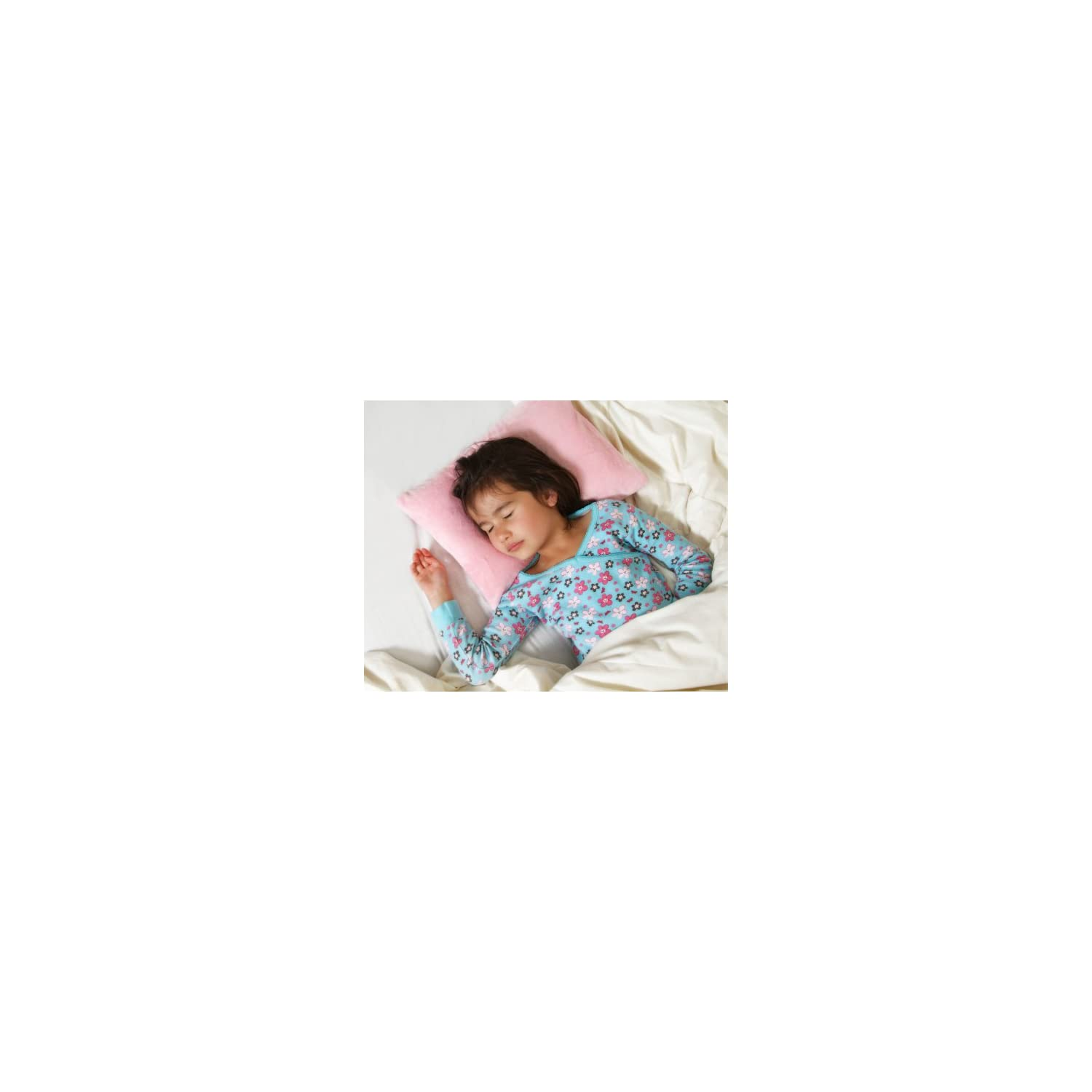 My First Premium Memory Foam Kids Toddler Pillow with Pillowcase, Pink, 12″ x 16″
