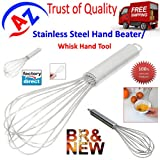 A To Z Sales Stainless Steel Hand Beater/ Egg Beater Whisk Hand/Stainless Steel spiral egg beater/Hand Mixi/ Hand Mixi Handy churner/Spring Mixi-AZ5053