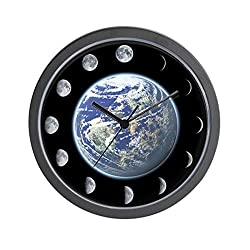 CafePress - Lunar Phase Moon - Unique Decorative 10 Wall Clock