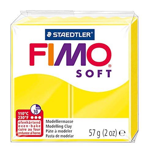 FIMO Soft Modelling Clay 56g Block Lemon