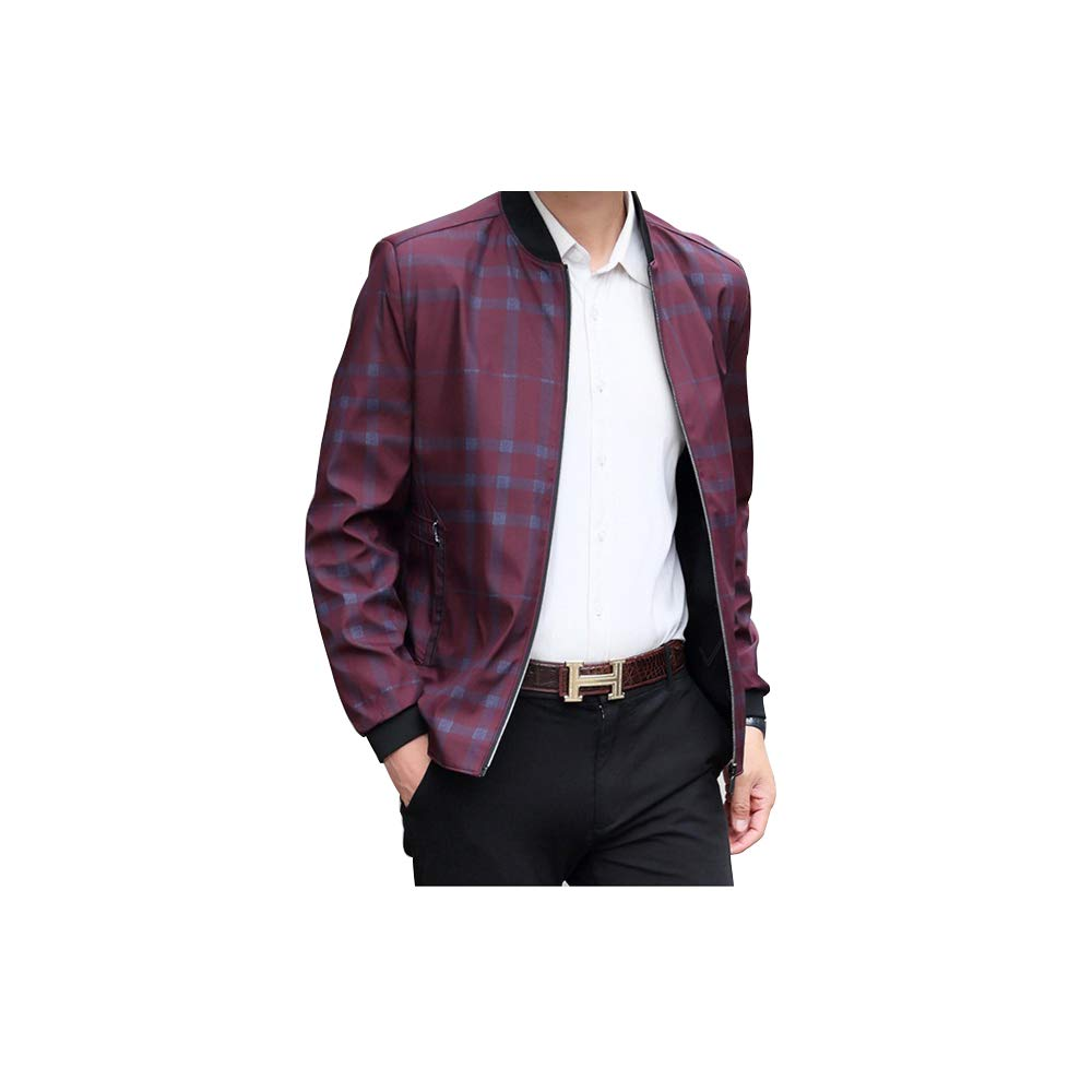 578d8fe4b Red LJK Men's Men's Men's Slim Fit Lightweight Cotton  Casual Fashion Jacket Sports Outdoors Spring Coat 1955a8