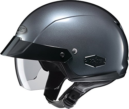 HJC IS-Cruiser Half-Shell Motorcycle Riding Helmet (Anthracite, Large)