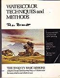 Watercolor Techniques and Methods, Rex Brandt, 0442214057
