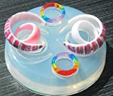 Multi-Clear-silicone Ring Molds+4 ps rings, 2 Piece Thick Hoop Earring (A-39)