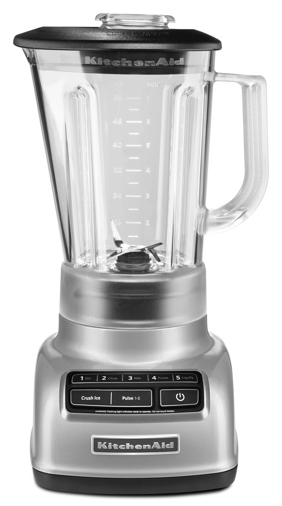 KitchenAid 5-Speed Blender RKSB1570MC, 56-Ounce, Metalic Chrome (Certified Refurbished)