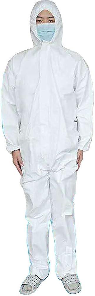 Mono médico desechable con capucha, ropa de seguridad de laboratorio para pacientes ambulatorios, barrios, laboratorios e instituciones médicas