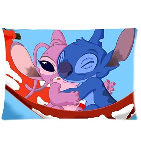 Amazon.com: Lilo y Stitch 20 x 30 Dos Caras Custom algodón ...
