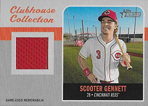 (2019 Topps Heritage Clubhouse Collection Relics #CCR-SG Scooter Gennett MEM NM-MT Cincinnati Reds)