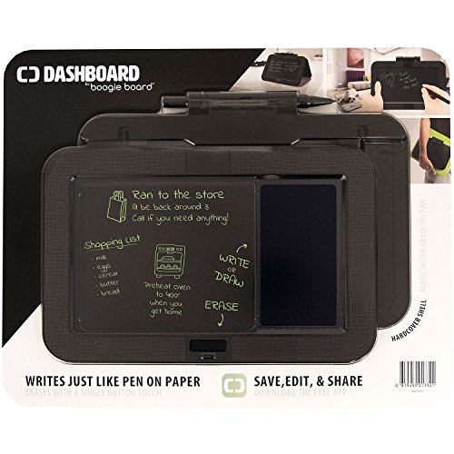 Boogie Board Dashboard with Hardcover Shell, Black