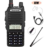 BaoFeng Radio UV-82+ 8W Handheld Dual Band VHF/UHF Two Way Ham Radio Rechargeable Long Range Walkie Talkies for Adults...