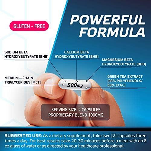 Keto Diet Pills - 5X Potent - Fat Burner 3000mg - Made in USA - Weight Loss Keto Burn - Exogenous Keto BHB Supplement for Women and Men - Keto Supplement & Metabolism Support - BHB Keto Burn 6