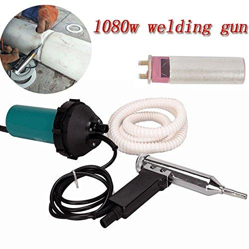 Beyondlife 1080W Split Plastic Welder Welding Tool Heat Heating Gun Torch Hot Air Pistol PVC Welder Machine Tool Kit, with 1.5 meters hose (Lightweight, - Flooring Smoke Vinyl