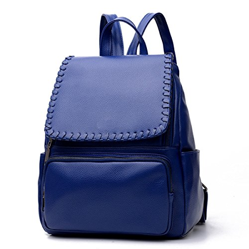 HAOXIAOZI - Bolso estilo cartera de azul para mujer Azul Oscuro
