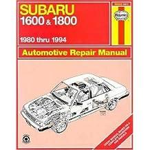 Subaru 1600 & 1800 1980 thru 1994