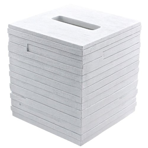 Gedy Quadrotto Free Standing Tissue Box Cover, White - Nameeks Box