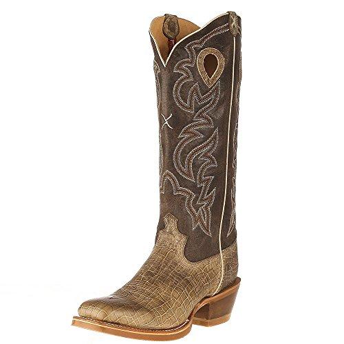 Twisted X Men's Buckaroo Cowboy Boot Square Toe Brown 10.5 - Boots Western Buckaroo