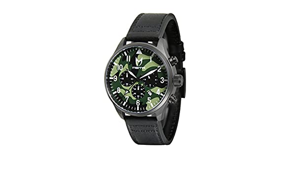 Amazon.com: Meister Watches / MSTR Watches Mens Aviator Watch | AV106BS | Black & Black | Stainless-Steel Case And Leather Band (B: Scott Limited Edition): ...